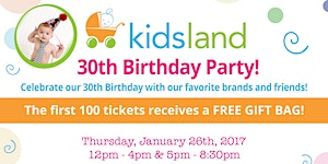 Kidsland's 30th Birthday Party!