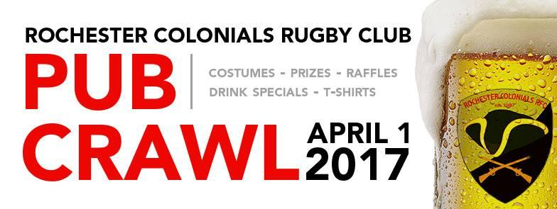 Rochester Colonials 2017 Bar Crawl