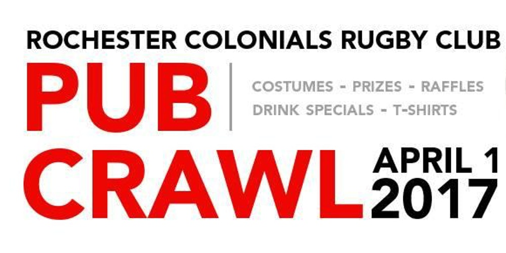 Rochester Colonials      Bar Crawl tickets