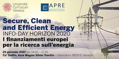 Secure, Clean and Efficient Energy: i finanziamenti europei per la ricerca