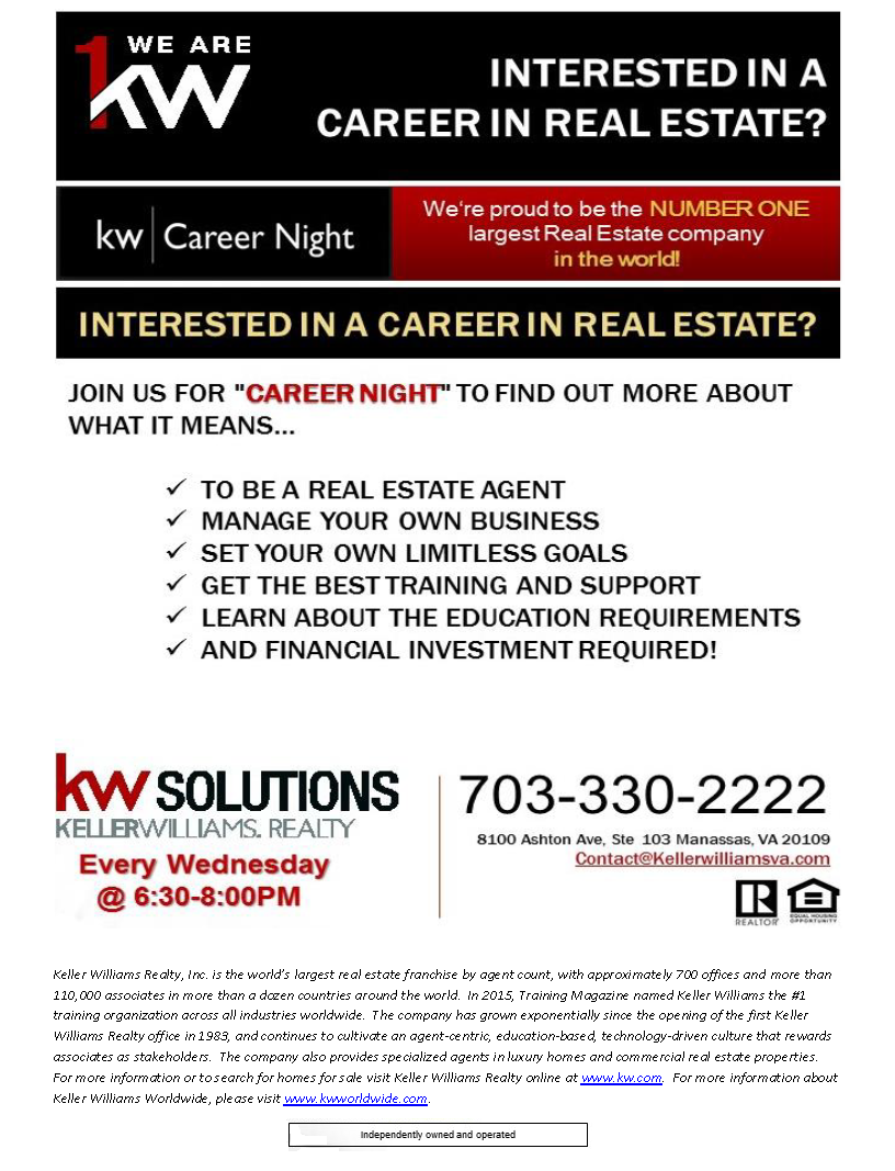 Career Night at kwSolutions (Keller Williams