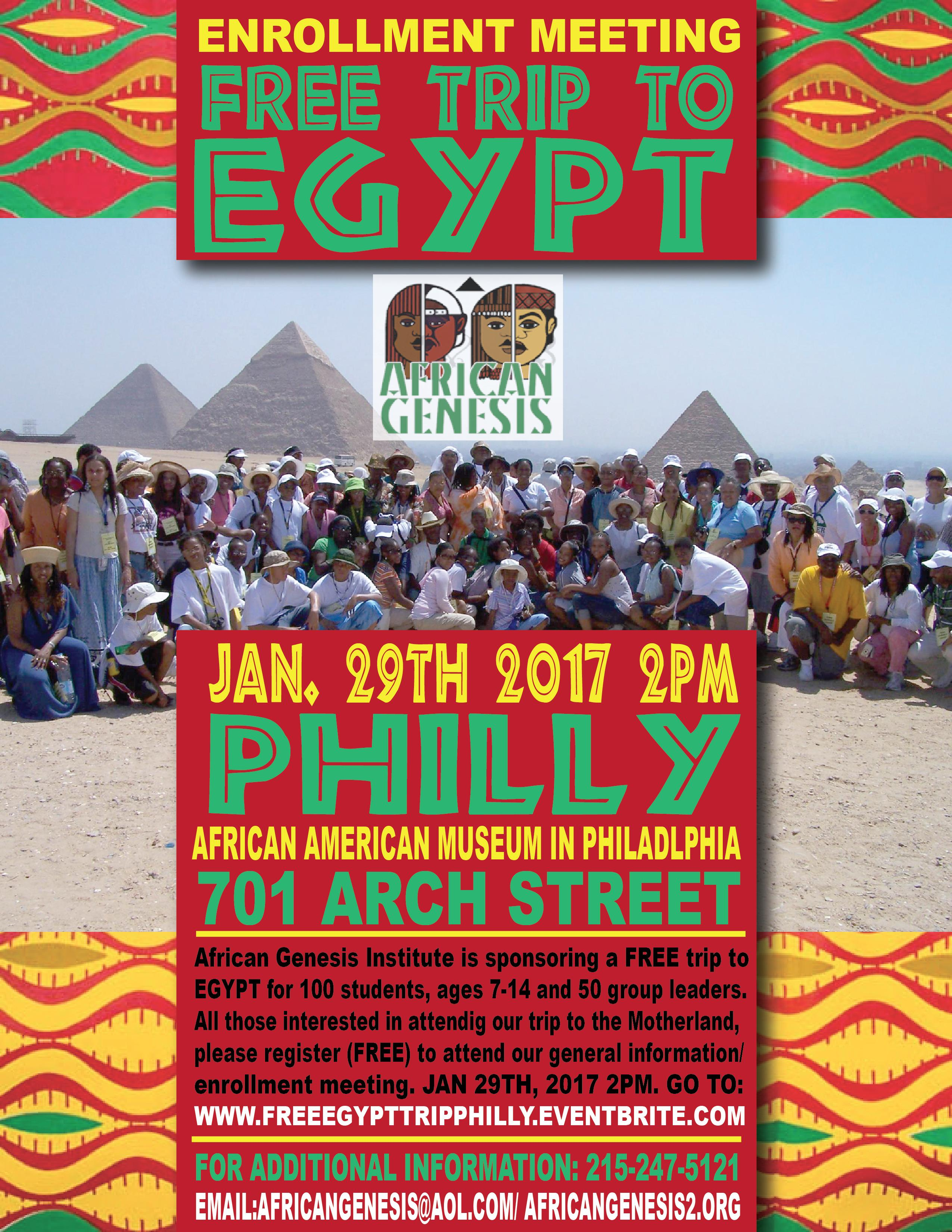 Free Trip to Egypt - Philadelphia Info & Enro