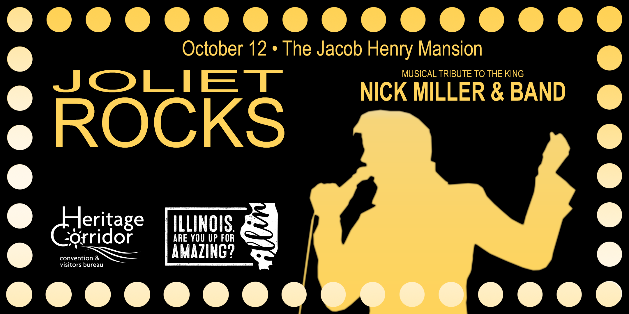 Joliet Rocks - Elvis Presley Tribute (october 12) | Joliet, IL | Jacob Henry Mansion | October 12, 2017