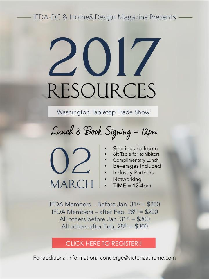 RESOURCES 2017 - Exhibitor Registration