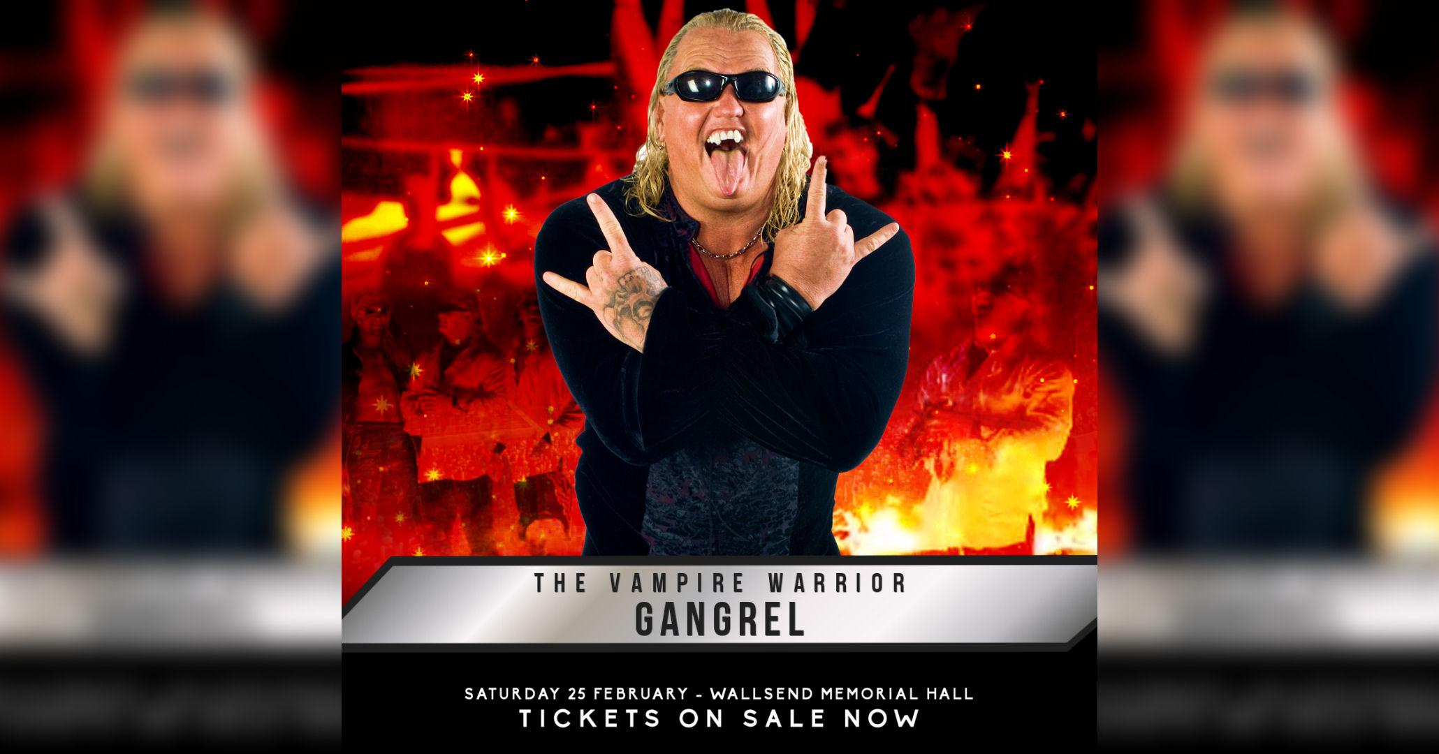 Wrestling in Wallsend featuring GANGREL