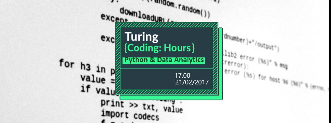 Turing Coding Hour // Python & Data analytics