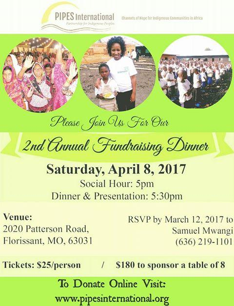 PIPES International 2nd Annual Fundraising Di