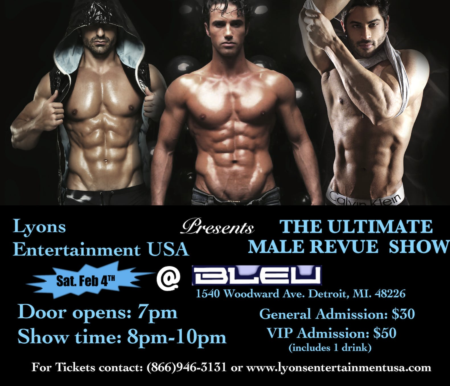 Detroit Hunks Male Revue Show