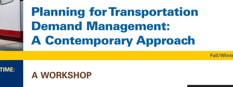 FHWA TDM Workshop