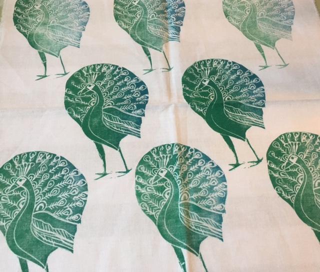 Lino Printing On Fabric