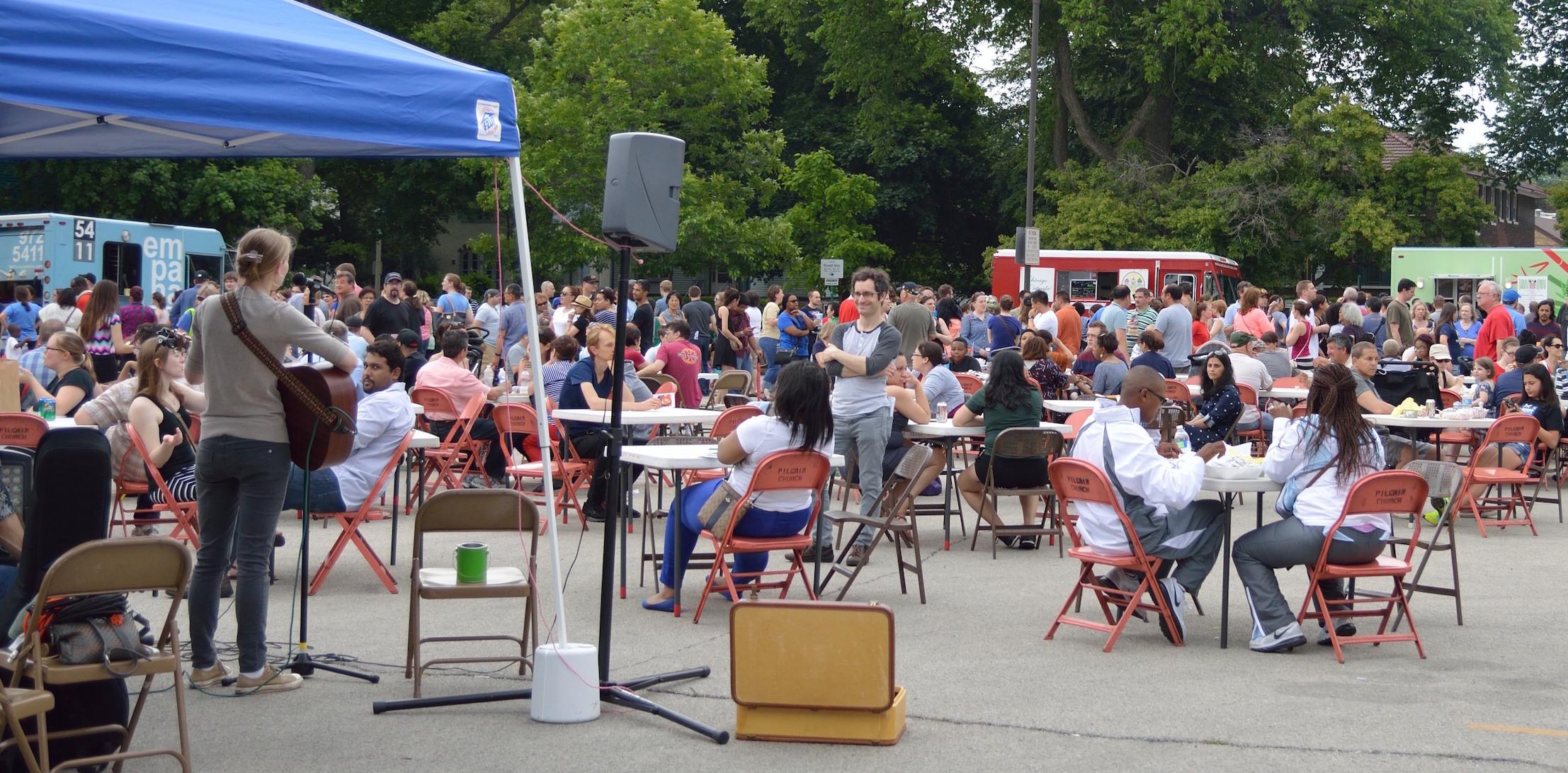 Oak Park's Great Food Truck Rally sponsored b