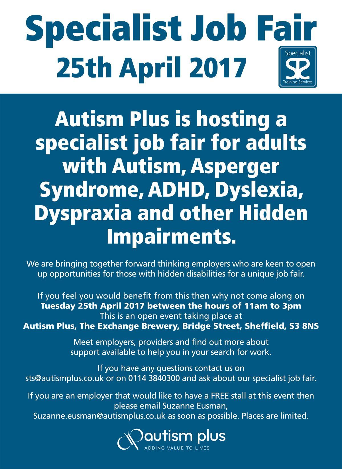 specialist job fair sheffield apr  specialist job fair