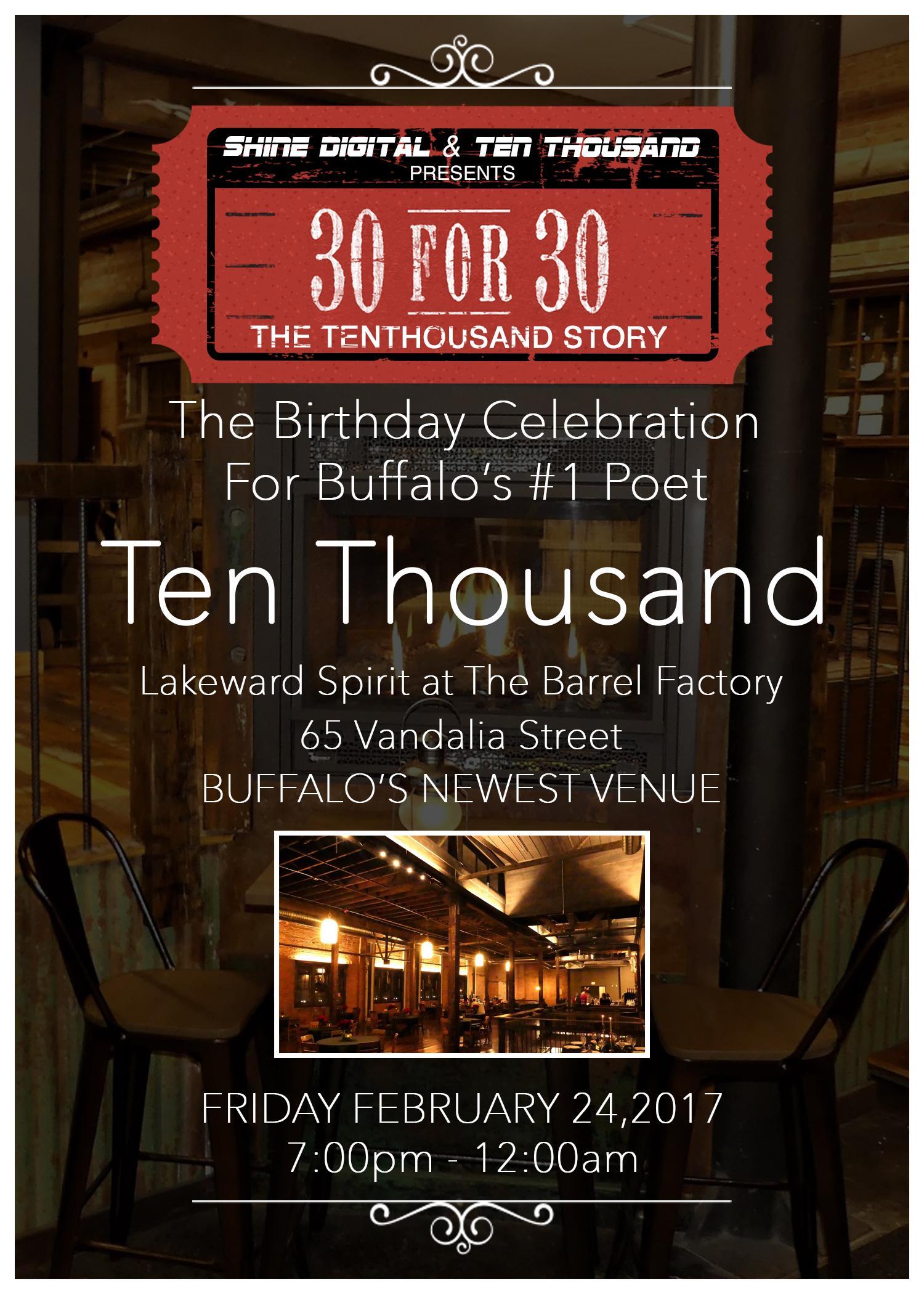 Ten Thousand 30th Birthday Celebration
