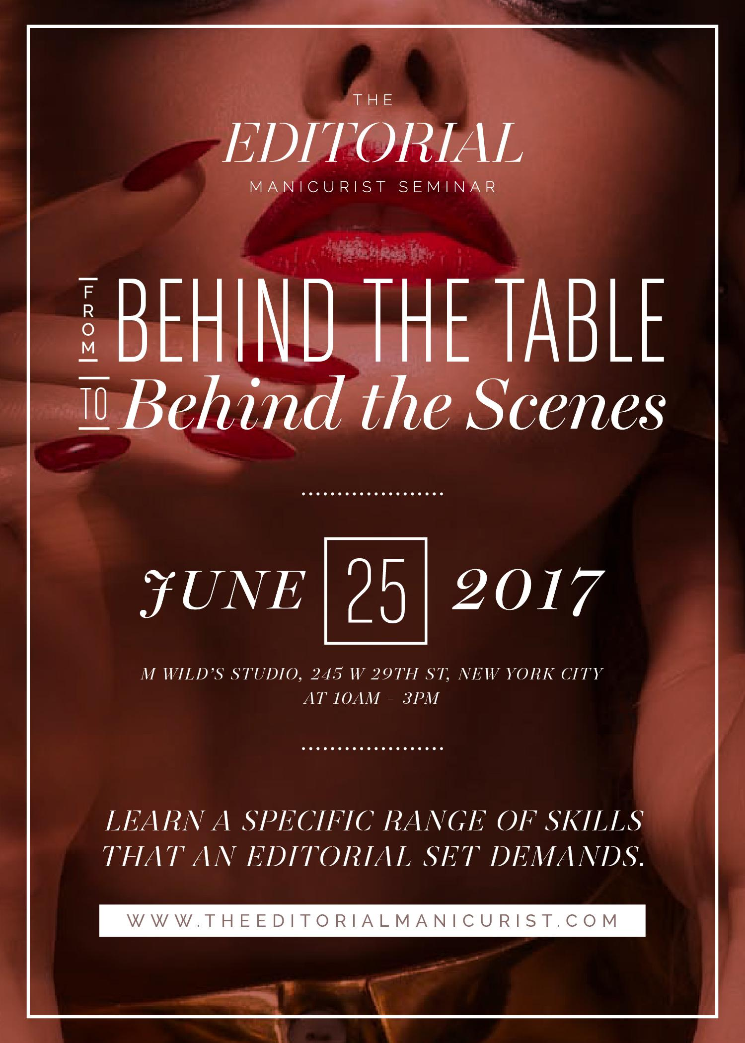The Editorial Manicurist Seminar: From Behind