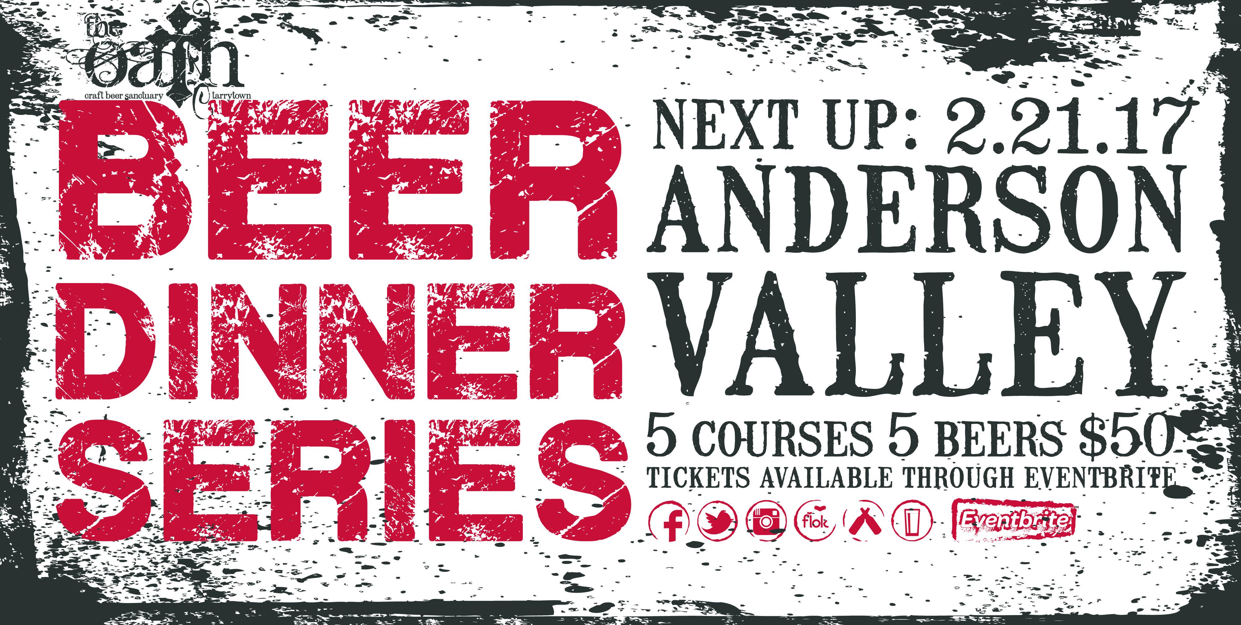 Beer Dinner Series - Anderson Valley