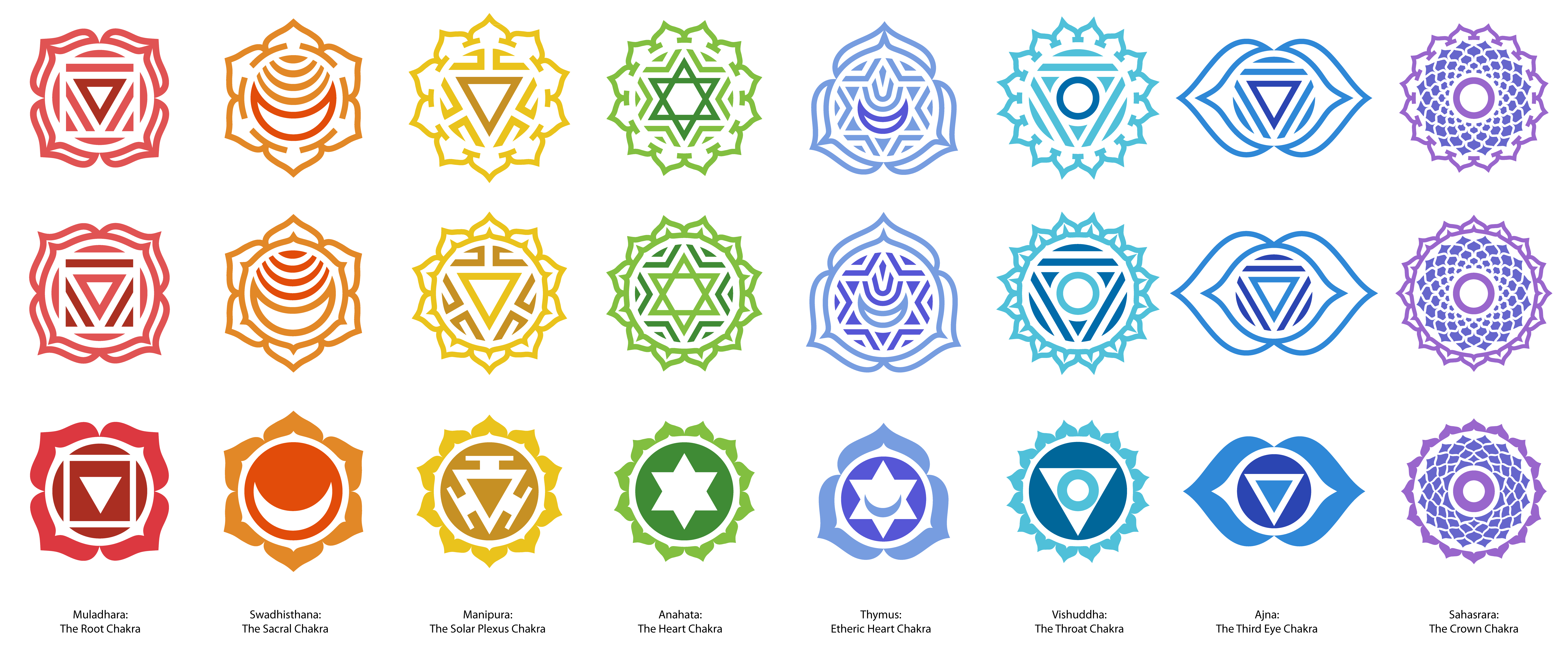 The 7 main Chakras colors symbols and meanings  ISpiritca