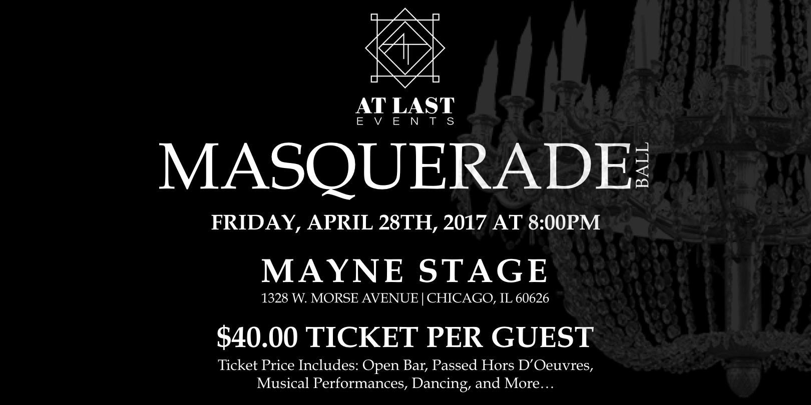 AT LAST EVENTS Masquerade Ball