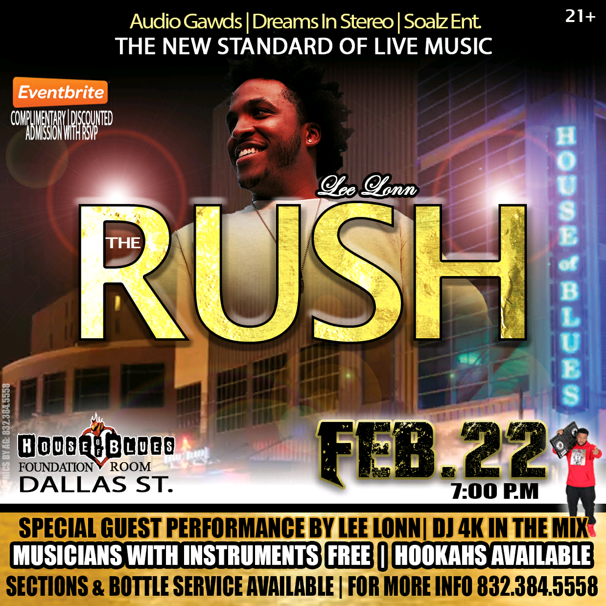 the rush at hob (foundation room) feat lee-lonn @ house of blues