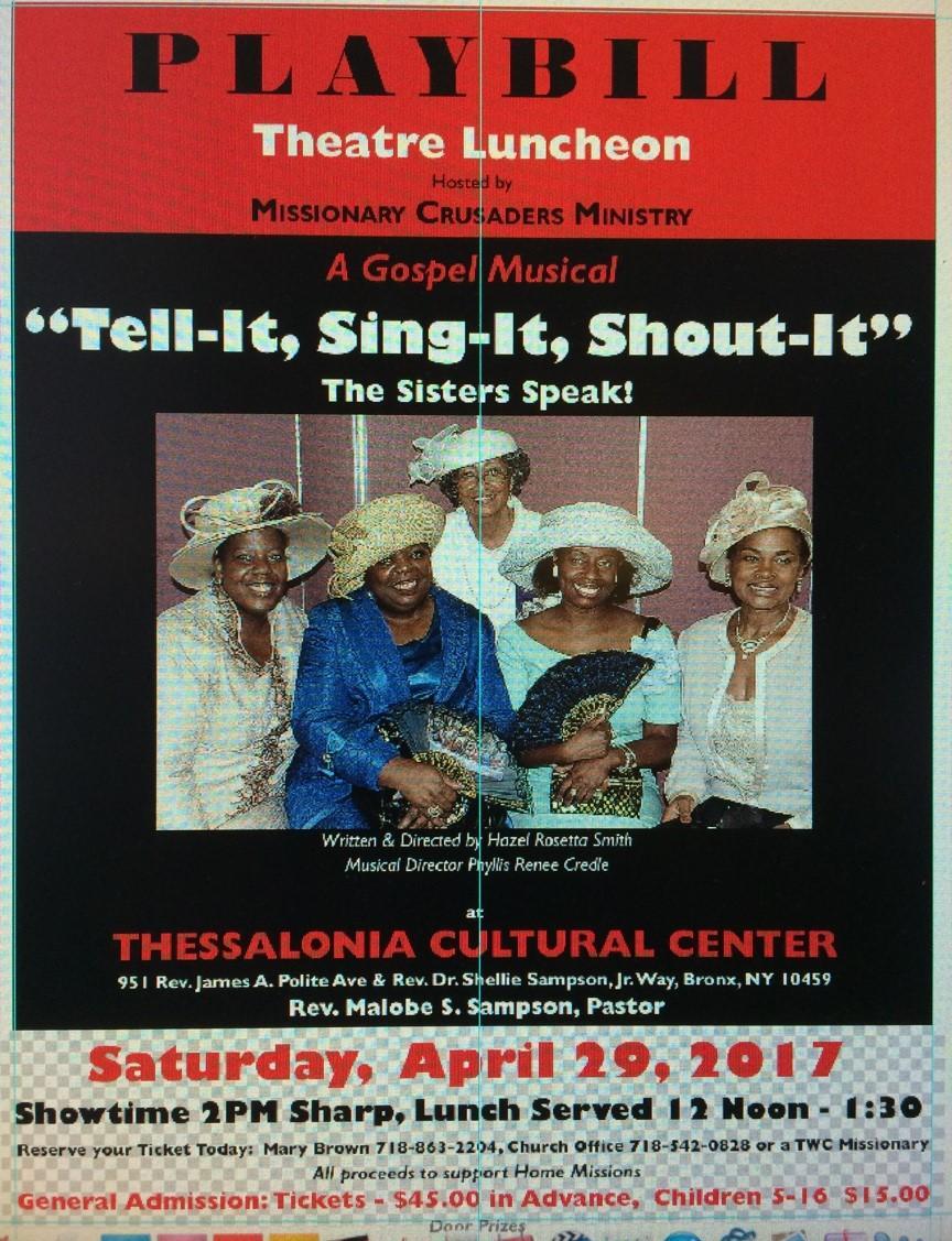TELL-IT SING-IT, SHOUT IT ( A Gospel Musical)