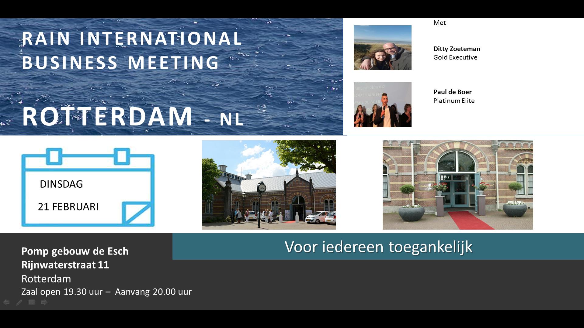 RAIN INTERNATIONAL Business Meeting Rotterdam