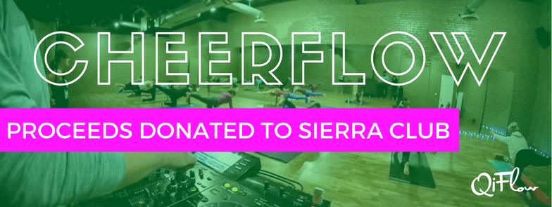 Cheerflow: An uplifting yoga party for charit
