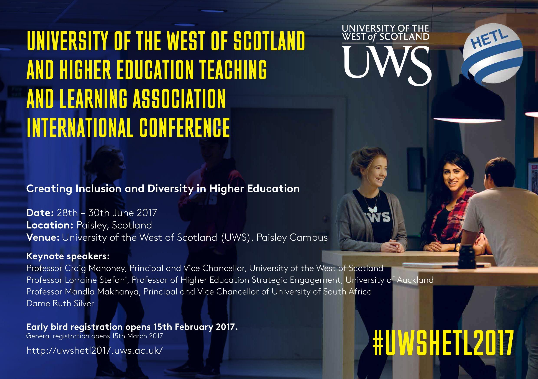 UWS HETL 2017 Conference