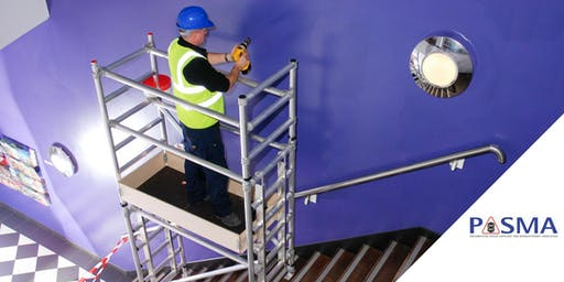 PASMA Towers on Stairs Course