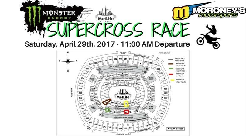 Moroney's Supercross Race Party Bus Tickets!