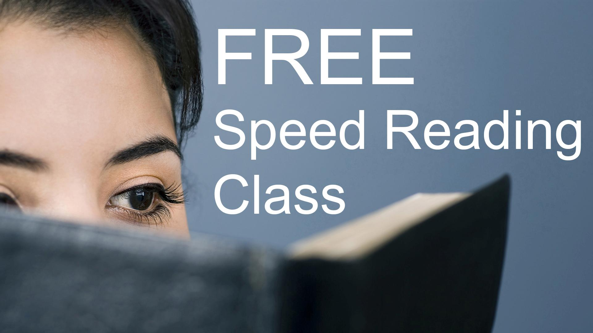 Free Speed Reading & Memorization Class - For