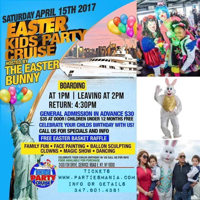 Easter Bunny Kids Boat Party