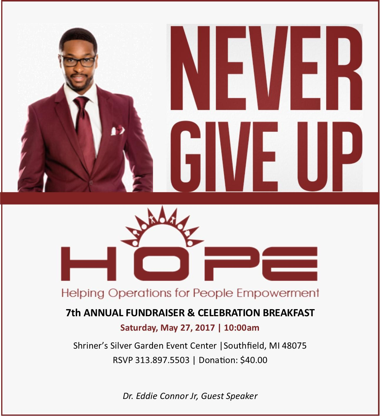 helping operations for people empowerment 7th annual fundraiser