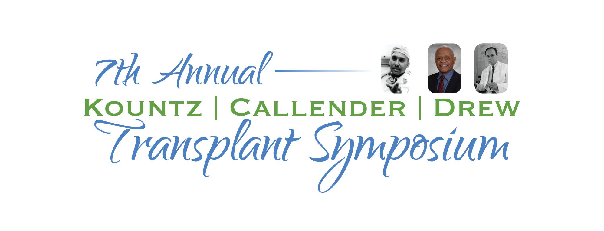 7th Annual Kountz/Callender/Drew Transplant S