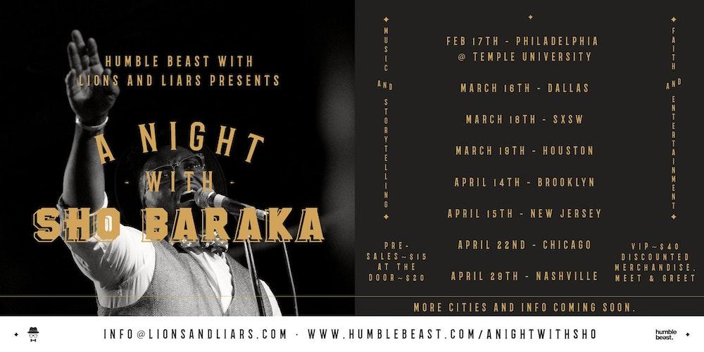 Miami Gardens  FL Events   Eventbrite Eventbrite A Night With Sho Baraka   Miami tickets
