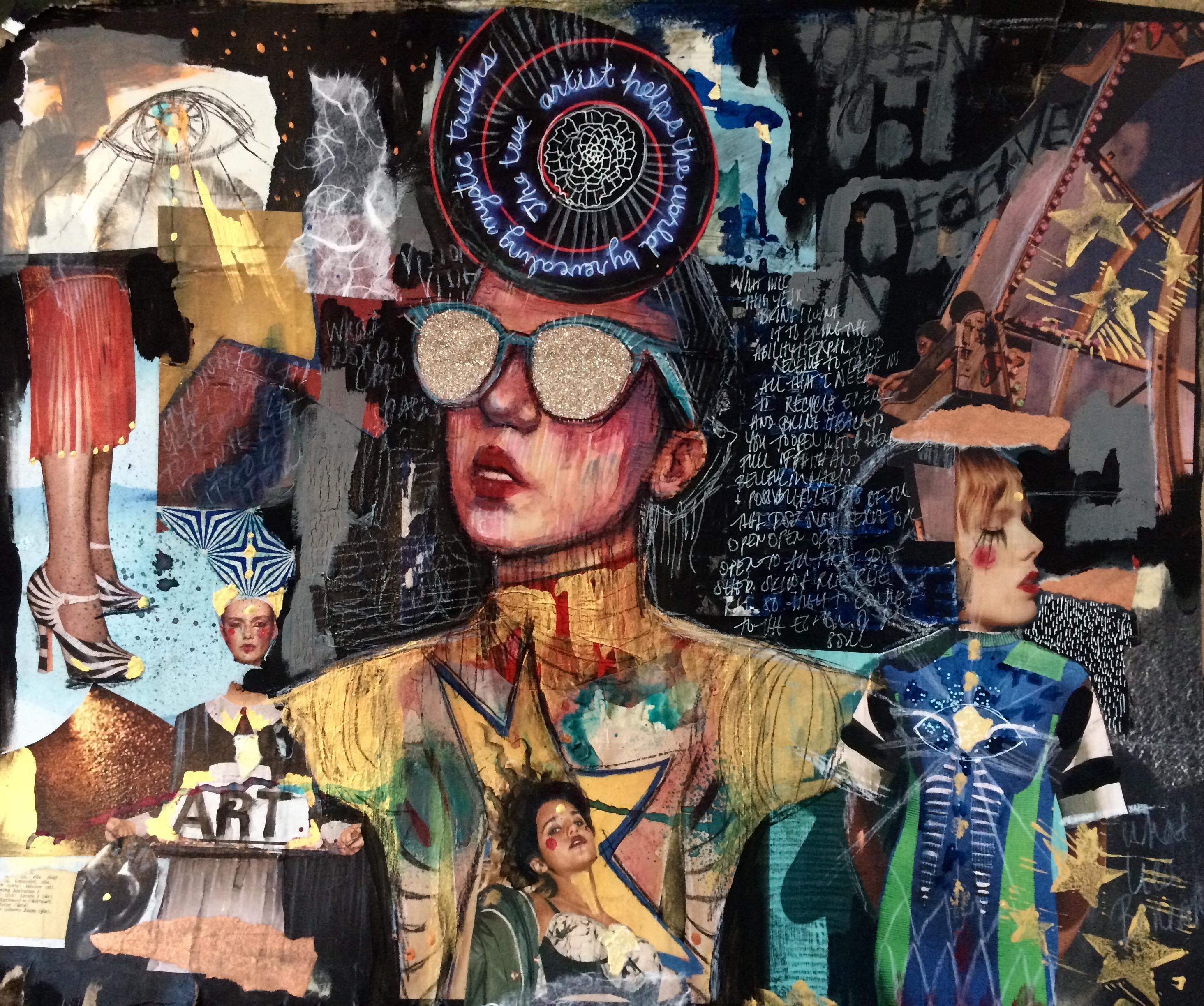 Frida Kahlo Collaging