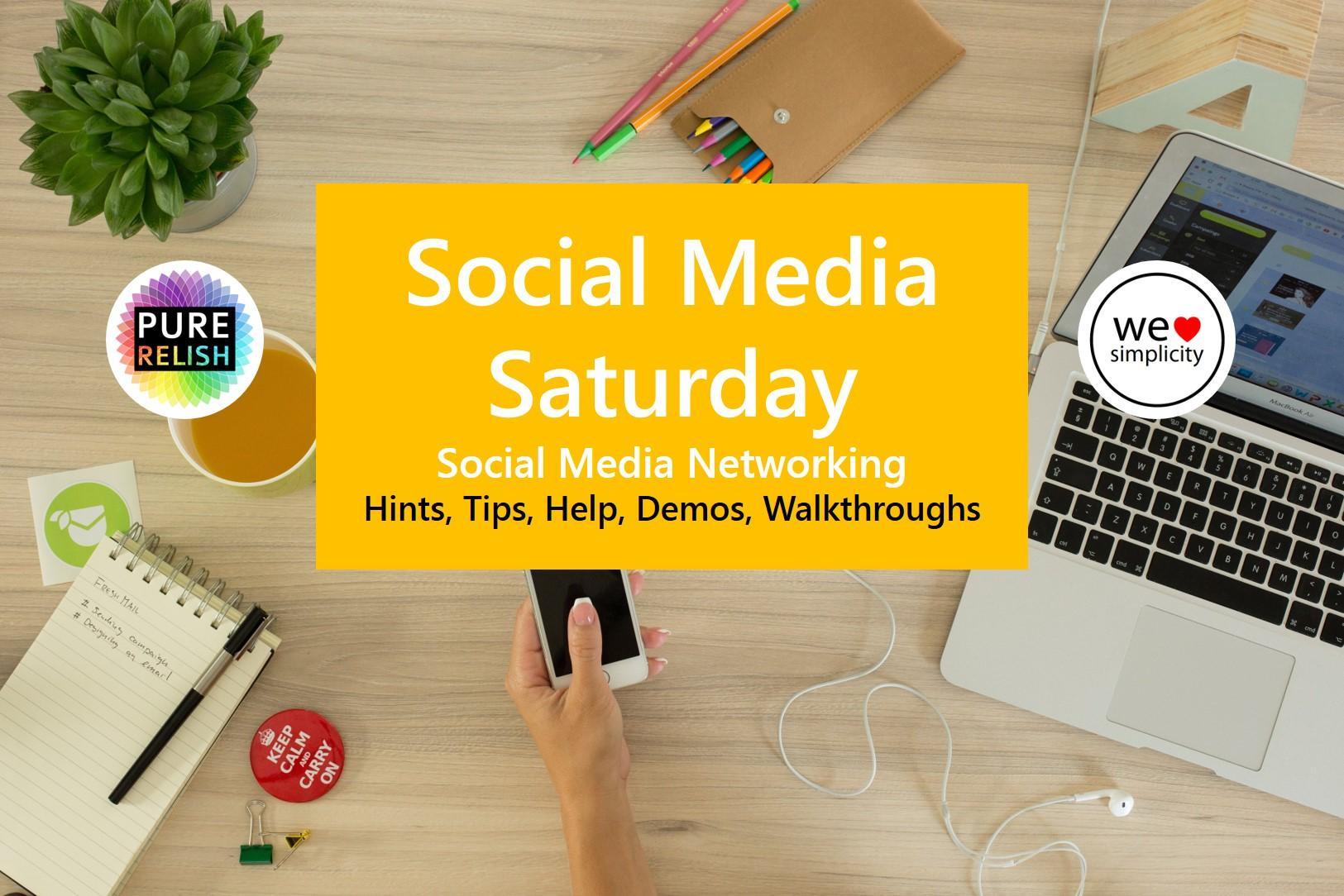 SOCIAL MEDIA SATURDAY - Social Media Demos, T