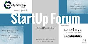 Startup Forum: Brand Positioning