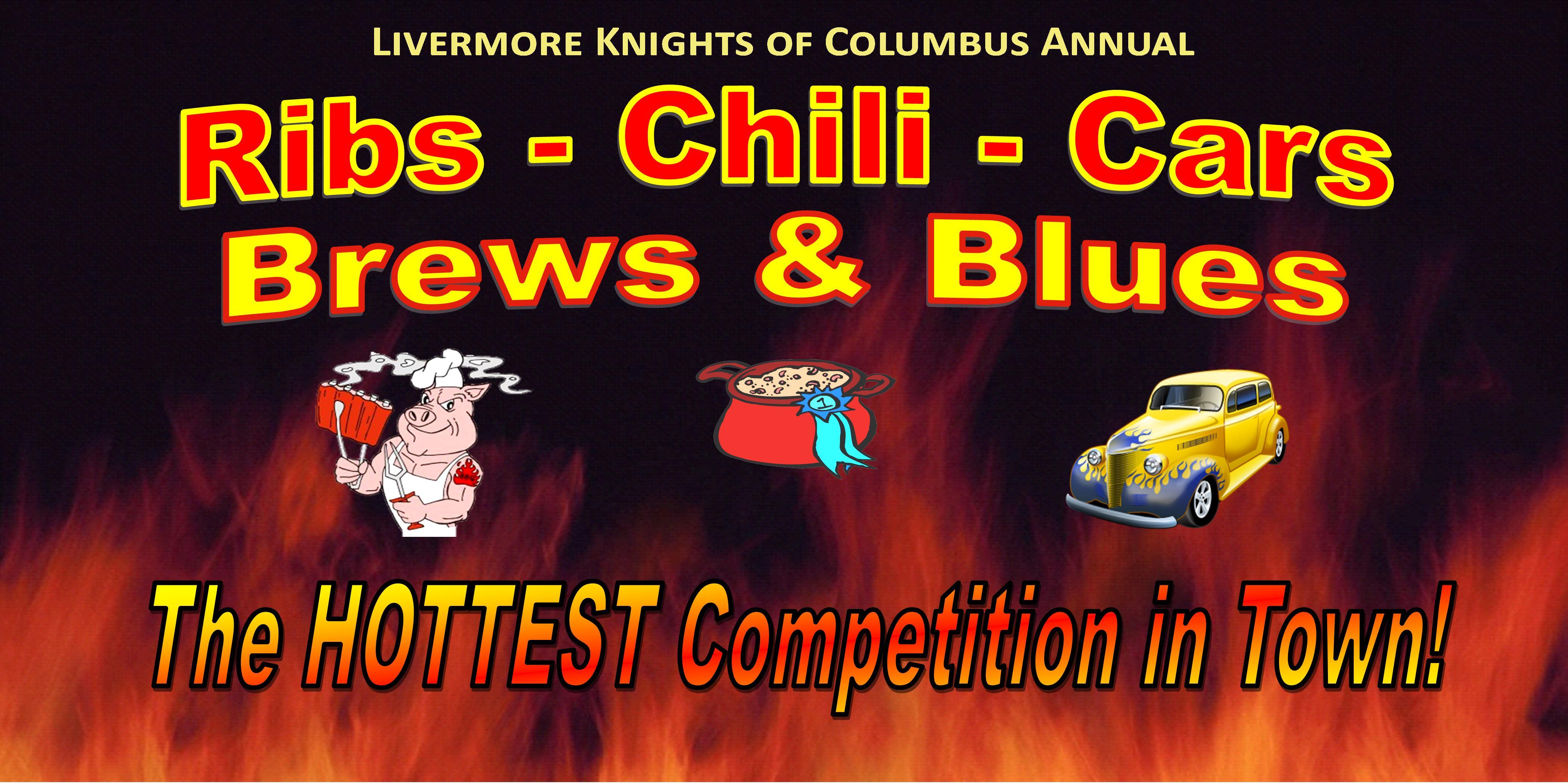 Livermore Knights of Columbus `Ribs, Chili, Cars, Brews & Blues` Charity Event 2017