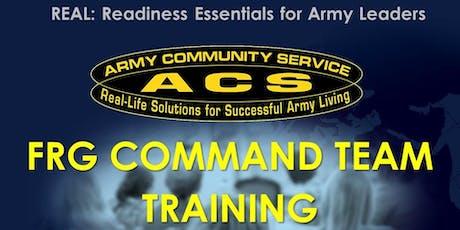 REAL FRG:  Command Team Training tickets