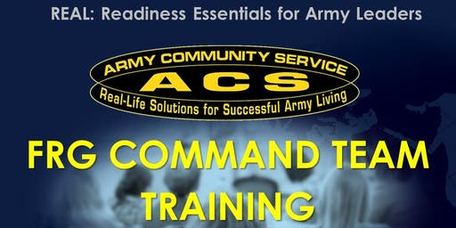 REAL SFRG:  Command Team Training