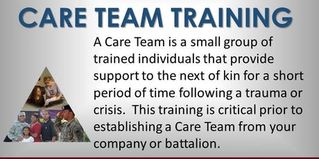 Care Team Training tickets