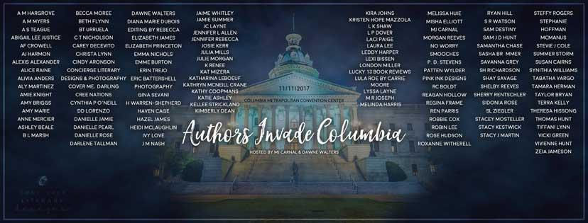 Authors Invade Columbia 2017