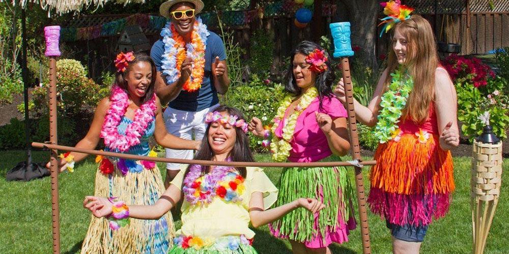 Kgi bioprocessing presents hawaiian luau tickets sat for Amusement park decoration games