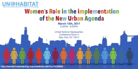 Women's role in the implementation of the New Urban Agenda tickets