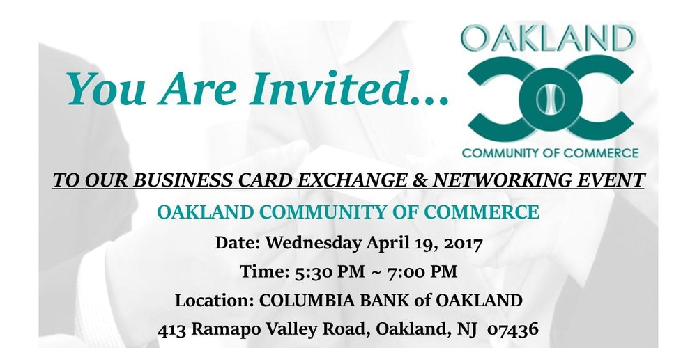BUSINESS CARD EXCHANGE & NETWORKING EVENT Tickets, Wed, Apr 19 ...