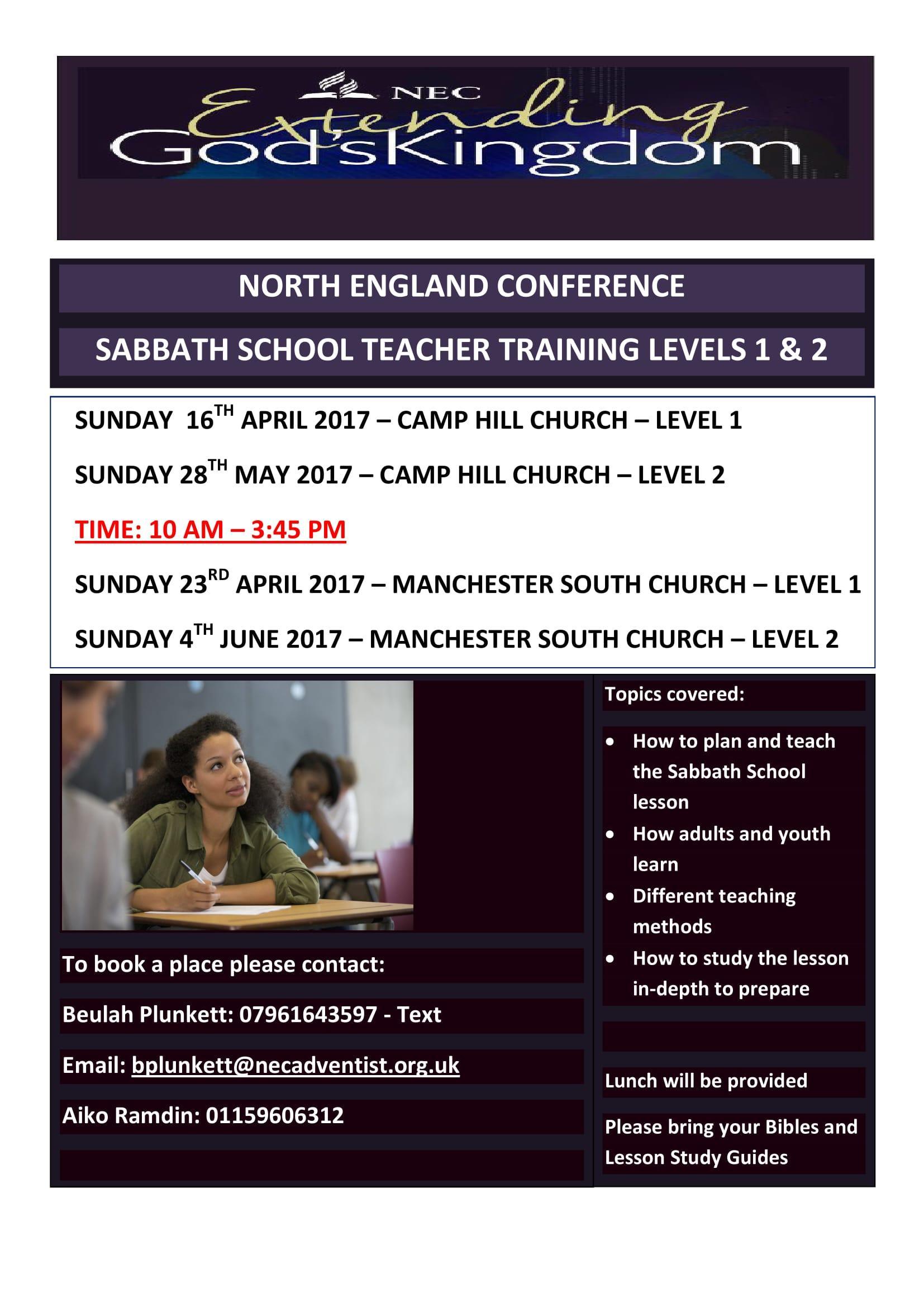 Sabbath School Teacher Training Level 2 - Bir