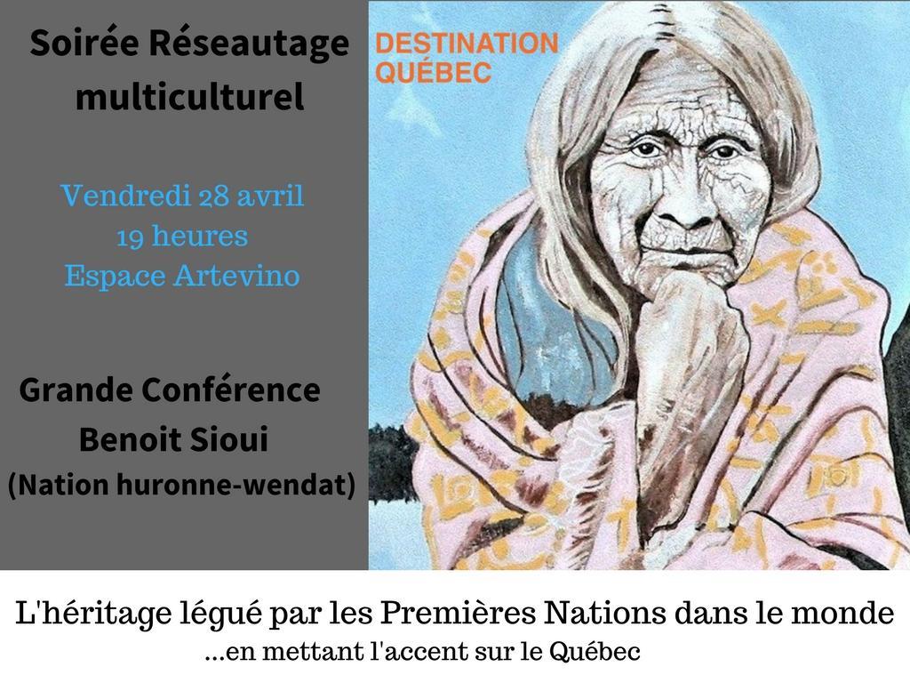 Soirée «Héritage légué par les Premières Nations à la culture québécoise»
