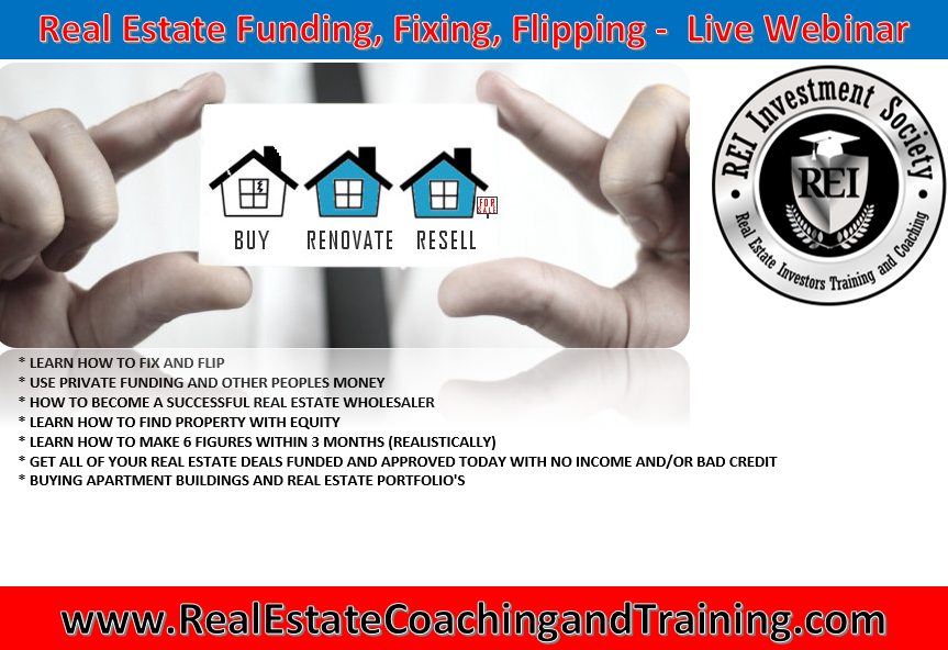 3 Day Live Real Estate Training -Find, Fund,