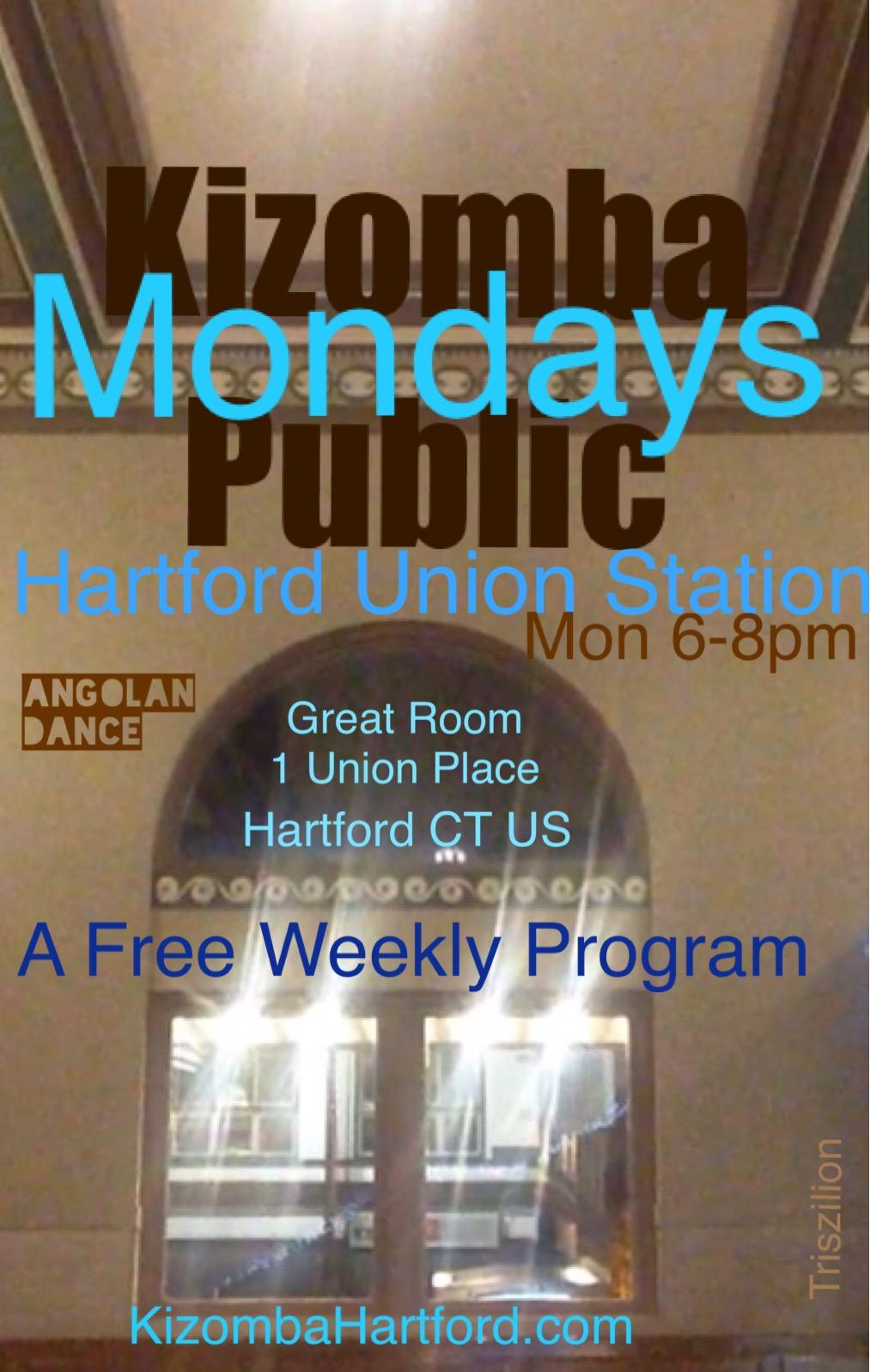 Kizomba Public Mondays Union Station Great Room at Union Place Hartford CT USA 6-8pm