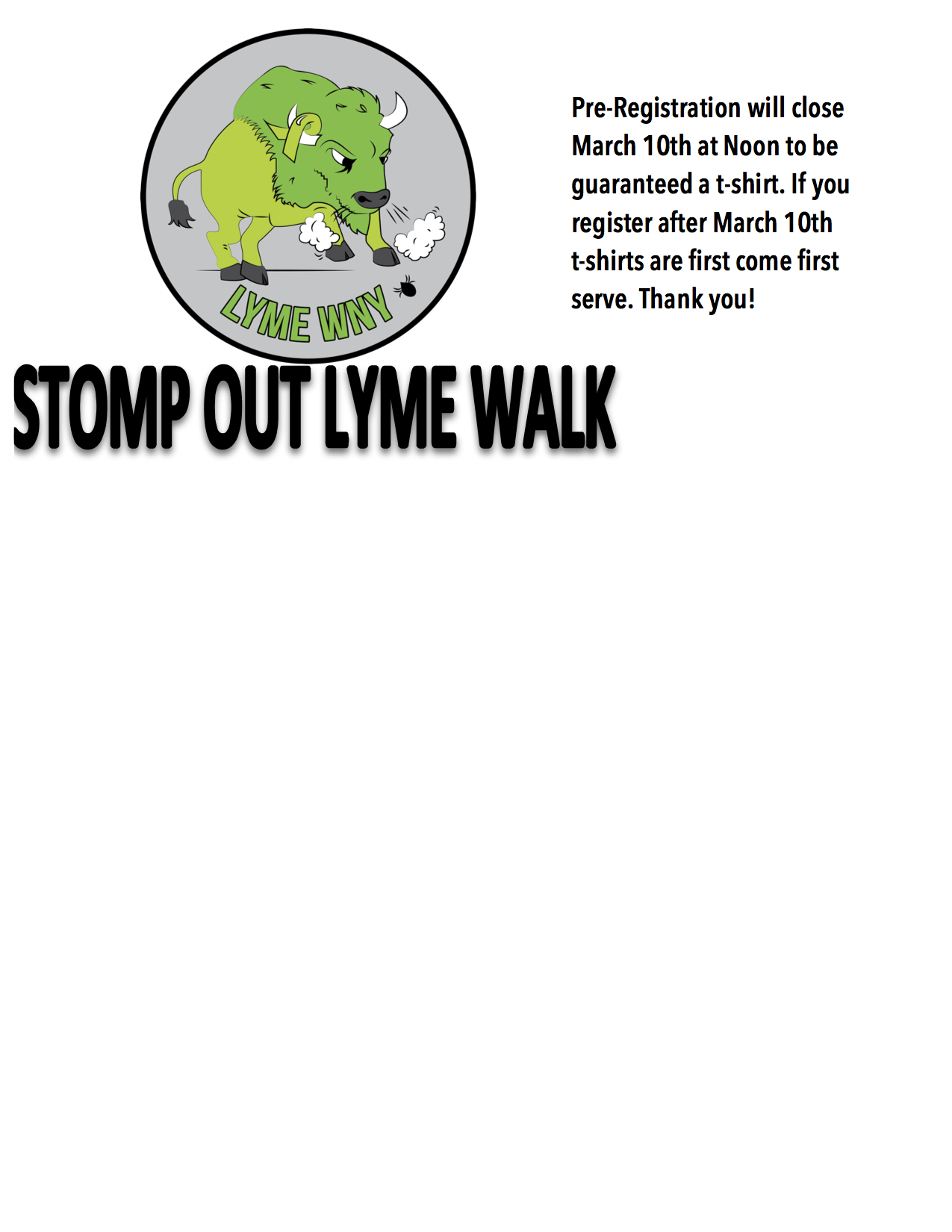 Stomp Out Lyme Walk