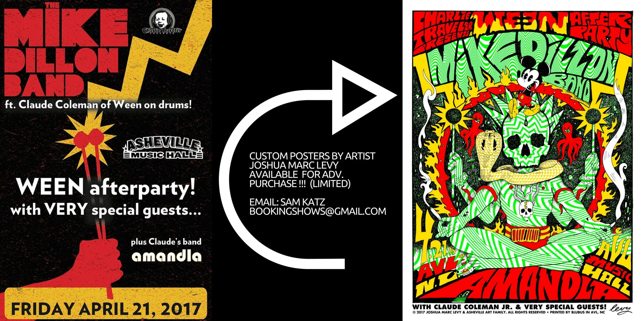 CHARLIE TRAVELER PRESENTS: a Ween Afterparty w/ Mike Dillon Band ft. Claude Coleman Jr. (of Ween) on drums w/ amandla + VERY special guests